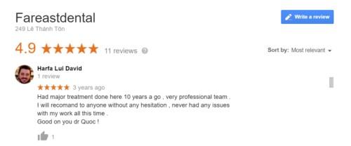review nha khoa viễn đông