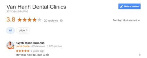 review nha khoa vạn hạnh