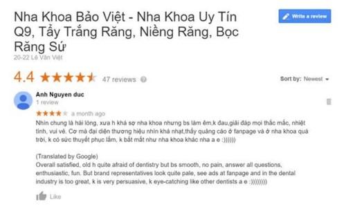 Nha Khoa Bảo Việt - Số 20 - 22 Lê Văn Việt, Quận 9 Có Tốt Không?