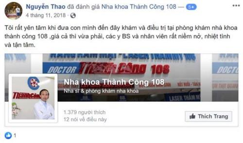 Nha Khoa Thành Công 108 - 6B Trần Hưng Đạo Hoàn Kiếm Hà Nội Có Tốt Không?