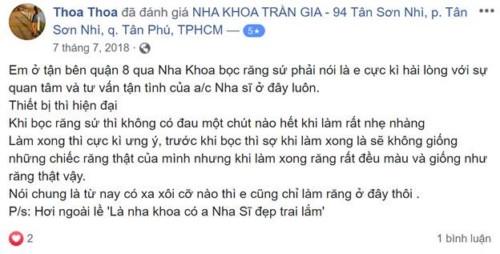 Nha Khoa Trần Gia - 259 Tân Sơn Nhì, Quận Tân Phú Có Tốt Không?
