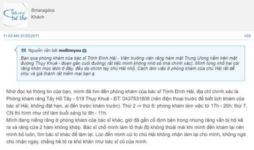 Nha Khoa Trịnh - 521 Thuỵ Khuê Tây Hồ Hà Nội Có Tốt Không?