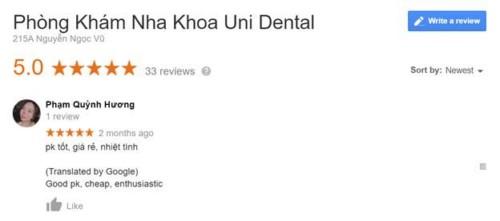 Uni Dental - 215A Nguyễn Ngọc Vũ, Cầu Giấy Hà Nội Có Tốt Không?