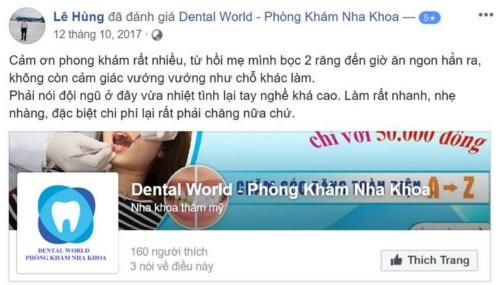 Nha khoa Dental World - 2 Ngõ 7 Trần Thái Tông Cầu Giấy có tốt không?;