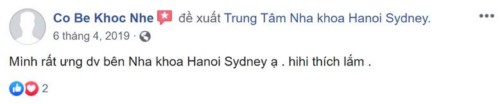 Nha khoa Hà Nội Sydney - 92 Nguyễn Chánh Cầu Giấy có tốt không?