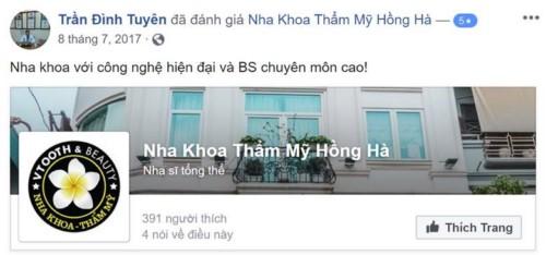 Nha khoa Hồng Hà - 117 Hồng Hà Ba Đình có tốt không?