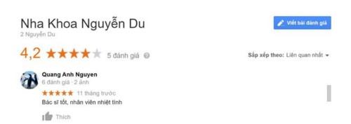 Nha khoa Nguyễn Du 02 Nguyễn Du Hoàn Kiếm Hà Nội có tốt không?