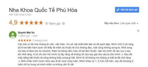 Nha khoa Quốc tế Phú Hòa - 484 Trần Khát Chân Hai Bà Trưng có tốt không?