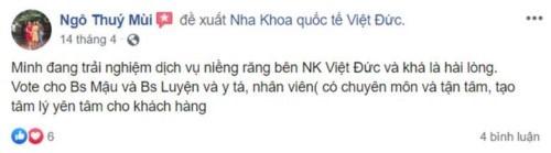 Nha khoa Quốc tế Việt Đức - 84A Hai Bà Trưng Hoàn Kiếm có tốt không?