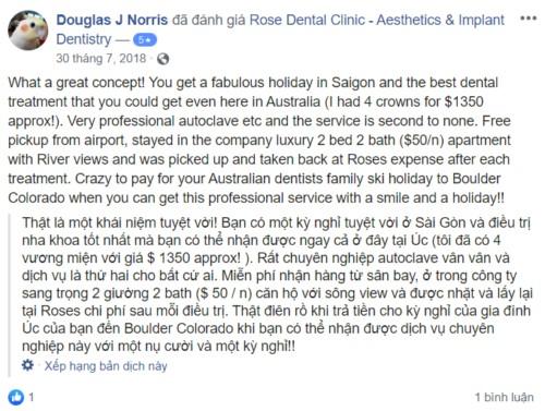 Nha khoa Rose Dental Clinic 30 - 36 Phan Bội Châu Quận 1 có tốt không?