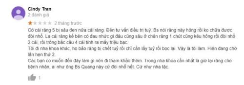 Nha khoa Sài Gòn BS Quang - 280B Lê Trọng Tấn Quận Tân Phú có tốt không?