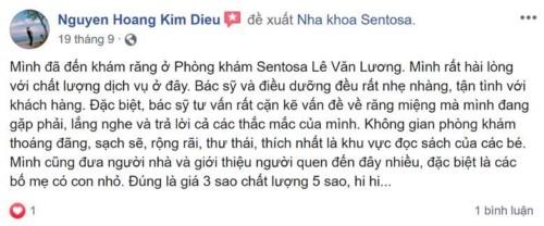Nha khoa Sentosa Lê Văn Lương Thanh Xuân Hà Nội có tốt không?