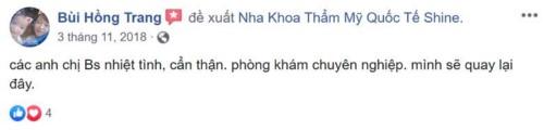 Nha khoa Shine - 54 Mỹ Đình Nam Từ Liêm Hà Nội có tốt không?