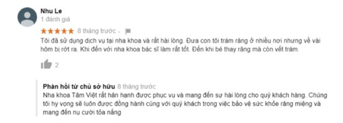 Nha khoa Tâm Việt - 366 Quang Trung Gò Vấp có tốt không?
