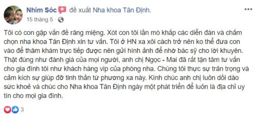 Nha khoa Tân Định 03 Lý Chính Thắng Quận 3 có tốt không?