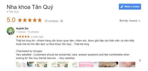 Nha khoa Tân Quý - 242 Tân Hương Tân Phú có tốt không?