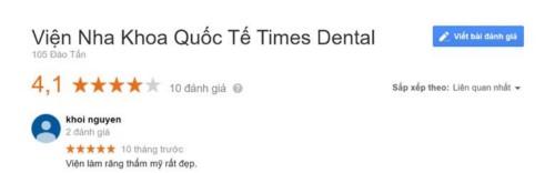Nha khoa Times Dental - 105 Đào Tấn Ba Đình có tốt không?