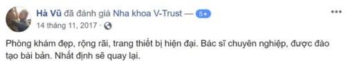Nha khoa V-Trust 04 Ngõ 108 Ngọc Hà Ba Đình có tốt không?