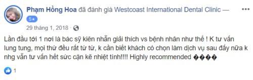Nha khoa Westcoast 17-19-21 Lý Tự Trọng Quận 1 có tốt không?