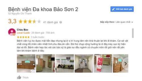 Bệnh viện Đa khoa Bảo Sơn - 52 Nguyễn Chí Thanh Đống Đa có tốt không?
