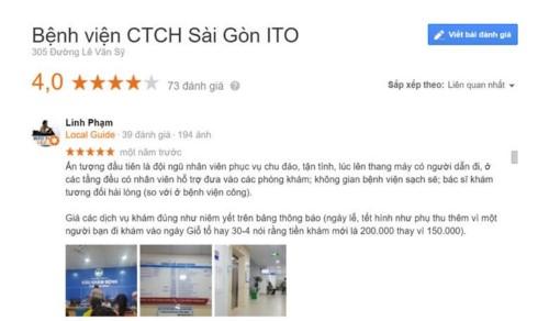 Khoa Răng Hàm Mặt Bệnh viện SAIGON-ITO có tốt không?