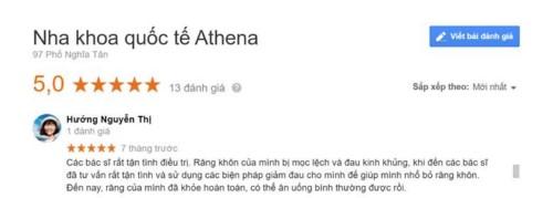 Nha khoa Athena - 97 Phố Nghĩa Tân Cầu Giấy có tốt không?