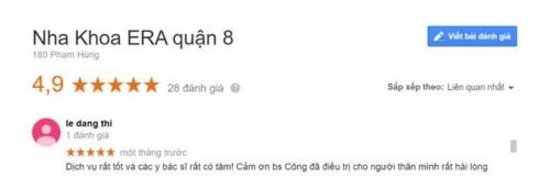 Nha khoa Era - 180 Phạm Hùng Quận 8 có tốt không?