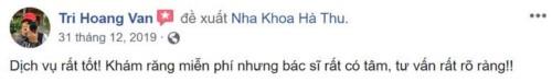 Nha khoa Hà Thu - 36 Hoa Cúc Phú Nhuận có tốt không?