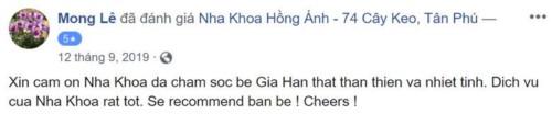 Nha khoa Hồng Ánh - 74 Cây Keo Tân Phú có tốt không?
