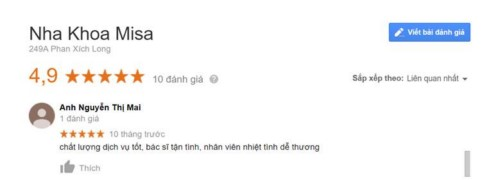 Nha khoa Misa - 249A Phan Xích Long Phú Nhuận có tốt không?