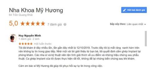 Nha khoa Mỹ Hương - 64 Trần Quang Khải Quận 1 có tốt không?
