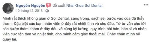 Nha khoa Sol Dental - 15 Yên Lãng Đống Đa có tốt không?