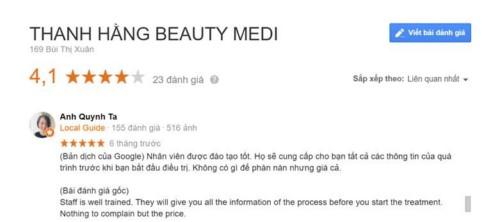 Nha khoa Thanh Hằng Beauty Medi - Bùi Thị Xuân Hai Bà Trưng có tốt không?