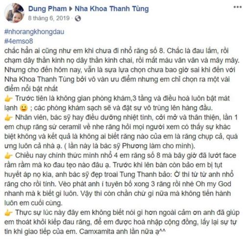 Nha khoa Thanh Tùng - 81 Trần Nguyên Đán Hoàng Mai có tốt không?