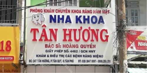 Nha khoa Tân Hương chữa tủy răng uy tín TPHCM