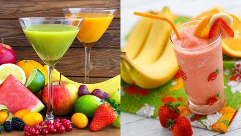 Sinh tố, nước ép rau củ quả giúp cung cấp vitamin và khoáng chất
