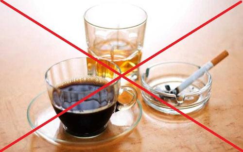 Tránh dùng chất kích thích có hại