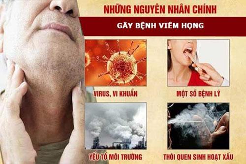 Nguyên nhân gây viêm họng thường gặp