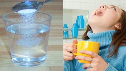 Nước muối ấm tốt cho sức khỏe răng miệng