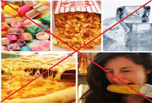 Thực phẩm nên tránh dùng khi niềng răng