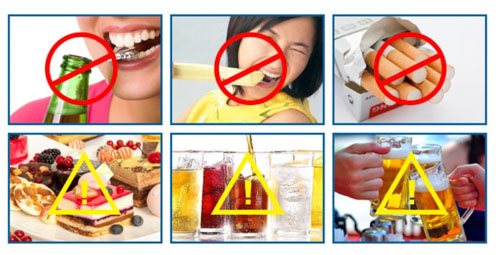 Tránh dùng các thực phẩm có hại cho răng